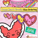 Valentine's Day Hearts Size Ordering Activity