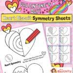 Valentine's Day symmetry worksheet