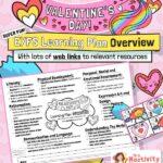 Valentine's Day EYFS planning overview