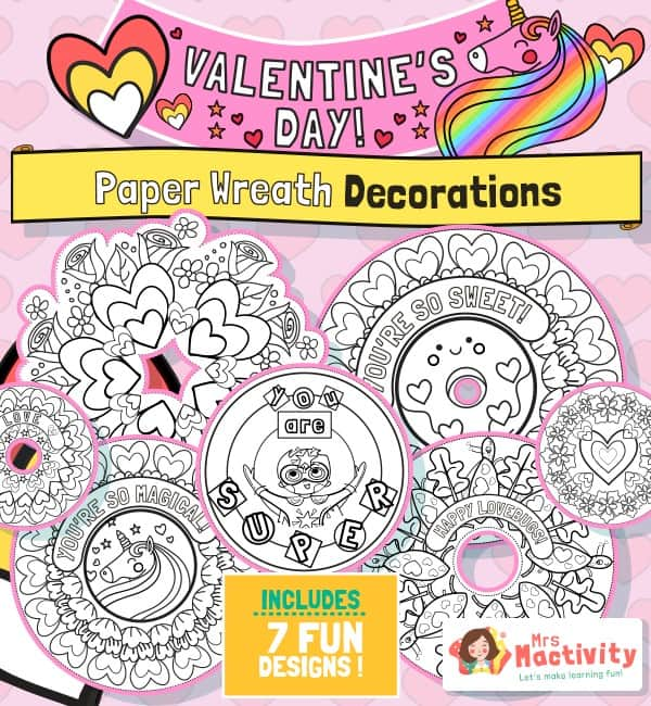 Valentine's Day wreath and decorations