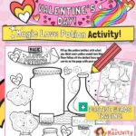 Valentine's Day love potion activity sheets
