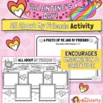 Valentine's Day all about my friends activity sheet