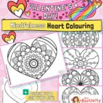 Valentine's Day mindfulness colouring pages