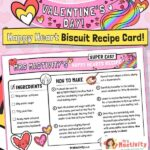 Valentine's Day heart biscuit recipe cards