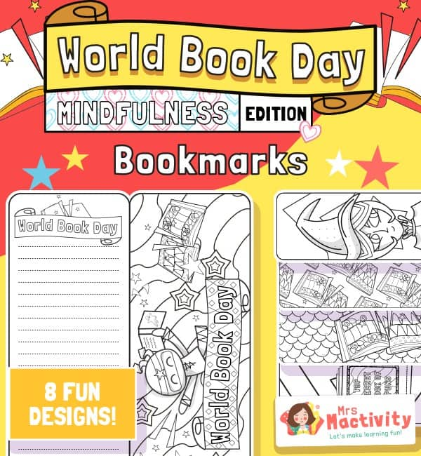 World Book Day Mindfulness Bookmarks