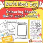 World Book day colouring sheets