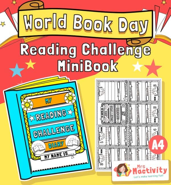 World Book Day Book Reading Mini Book