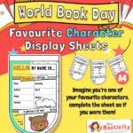World Book Day Character Activity Sheet