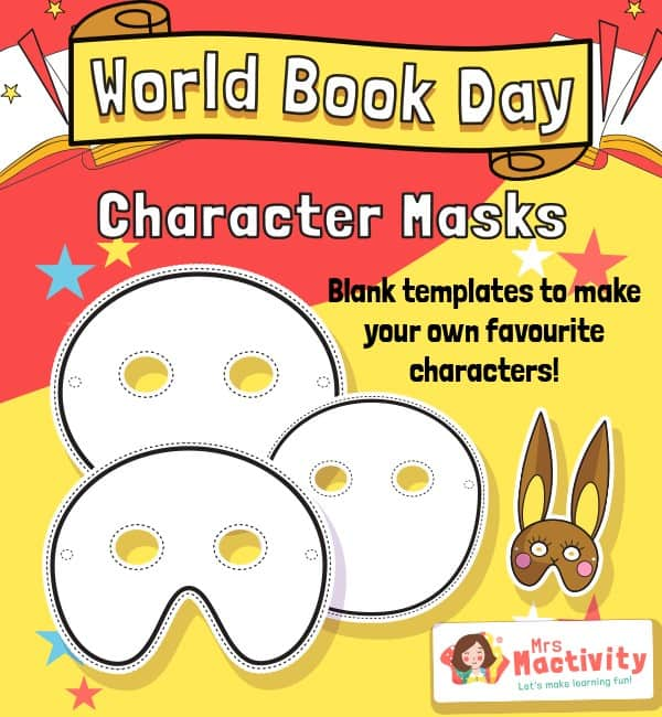World Book Day Character Masks
