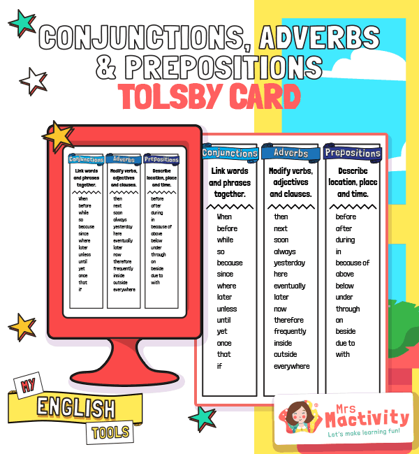 Tolsby Frame Conjunctions Adverbs and Prepositions
