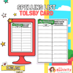 Tolsby Frame Spelling Card