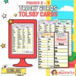 Tolsby Frame Phase 2-5 Tricky Words Display