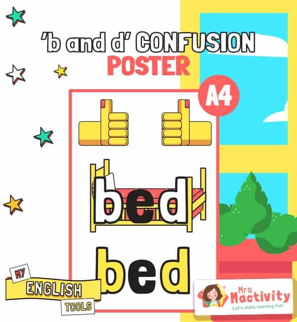B and D Confusion Poster
