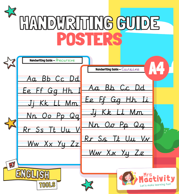 Handwriting Guide Posters