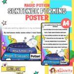 Magic potion sentence forming poster