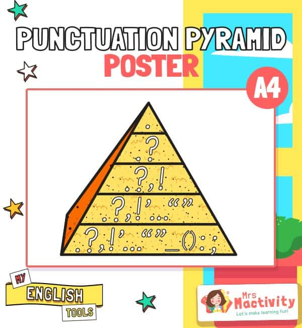 Punctuation Pyramid Poster