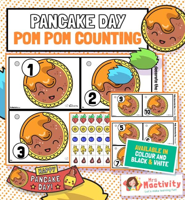 Pancake Day Pom Pom Counting Activity