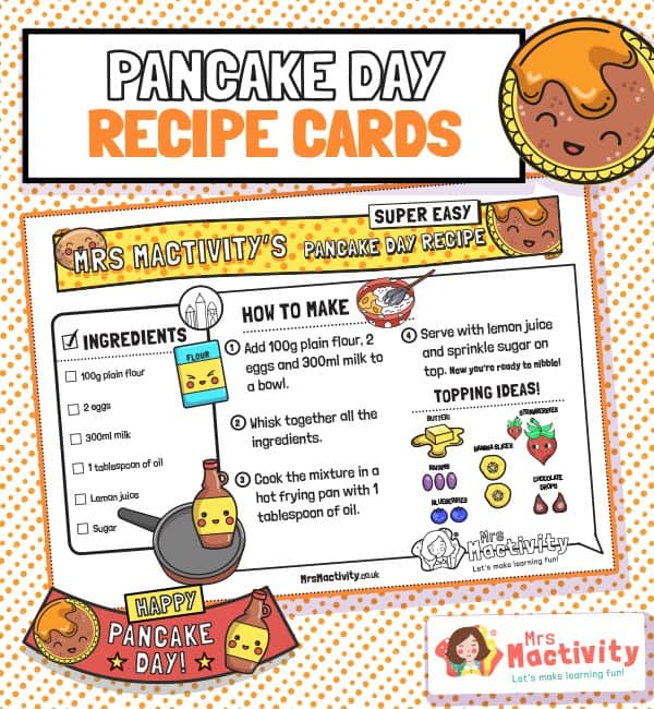 Pancake Day Recipe Cards
