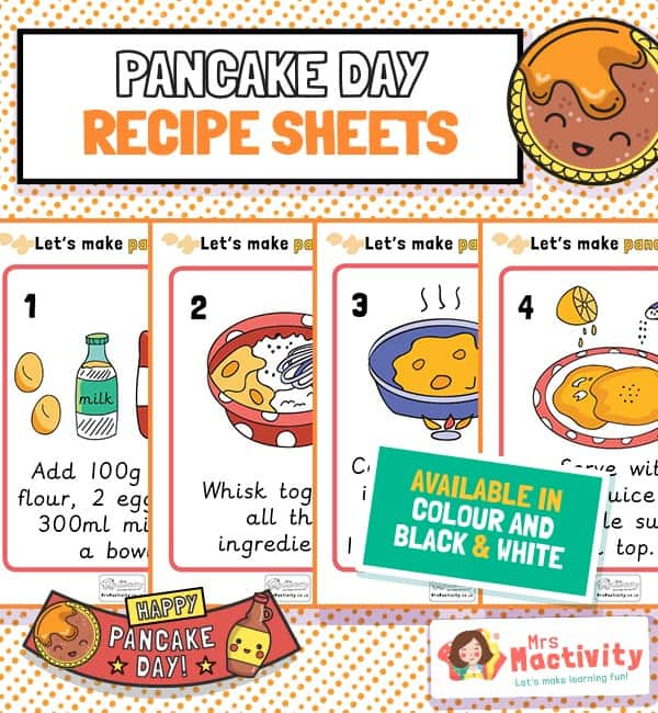 Pancake Day A4 Recipe Posters