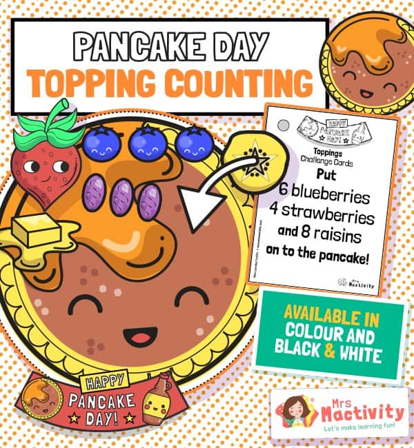 Pancake Topping Counting Activity