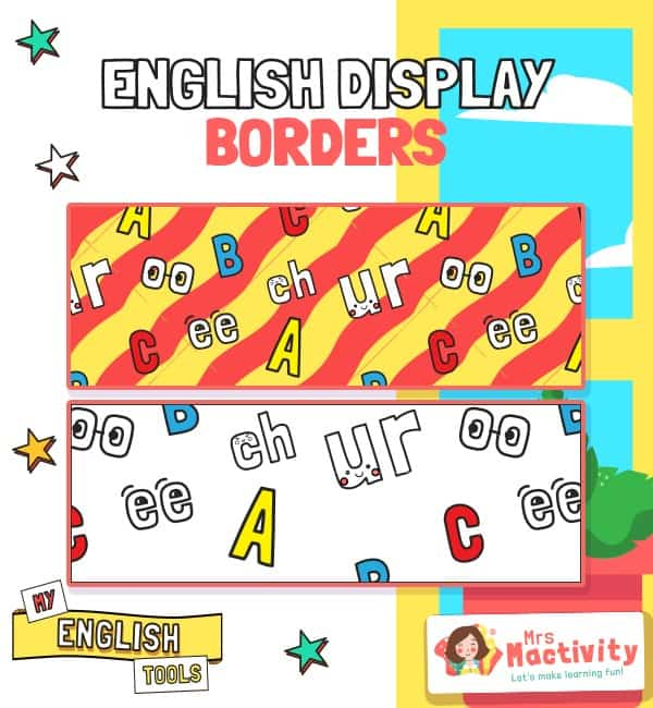 English Display Borders
