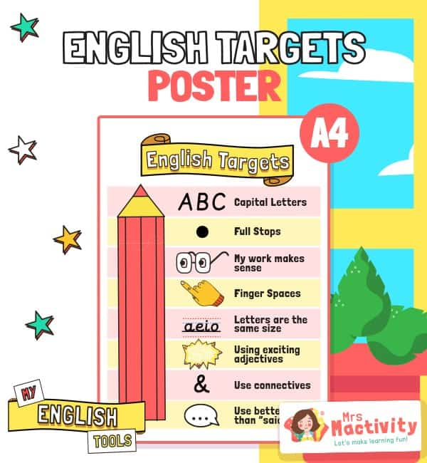 English Writing Targets Posters