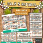 Calm And Natural Classroom Labels – Pastel