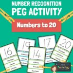 Number recognition peg activity 1-20