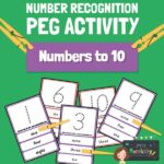 number recognition peg activity