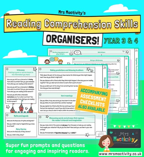 Year 3/4 Reading Comprehension Skills Organiser