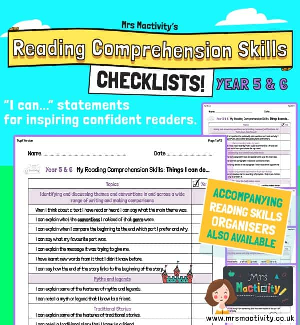 Year 5/6 Reading Comprehension Skills Assessment Checklist