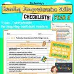 Year 2 Reading Comprehension Skills Assessment Checklist
