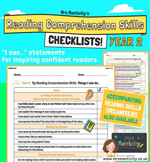 Year 2 Reading Comprehension Skills Assessment Checklist