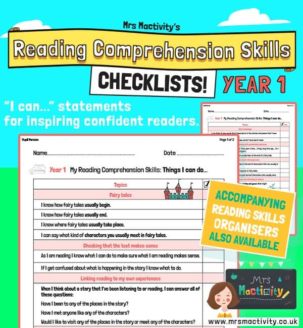 Year 1 Reading Comprehension Skills Assessment Checklist