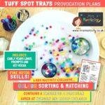 Tuff Spot Tray Colour Sorting Enhanced Provision Plan