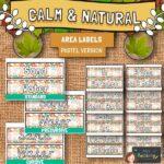 Calmnatural Area Labels Pastel