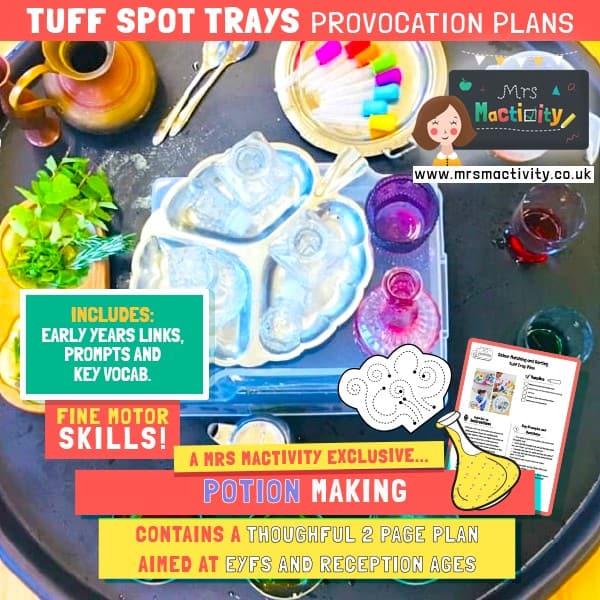 Tuff Spot Tray Potion Making Enhanced Provision Plan