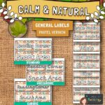 Calm and Natural Classroom Labels - Pastel