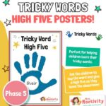 tricky words high five phase 5