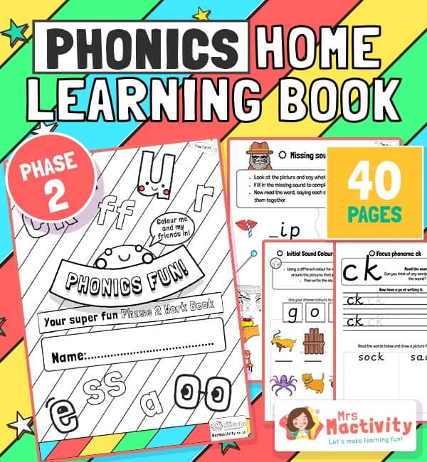 Age 4-5 Phonics Booklet (Phase 2)