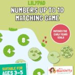 Lilypad Numbers to 10 Matching Game