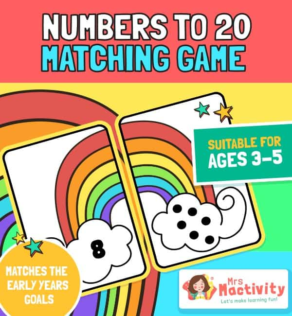 Numbers to 20 Matching Game