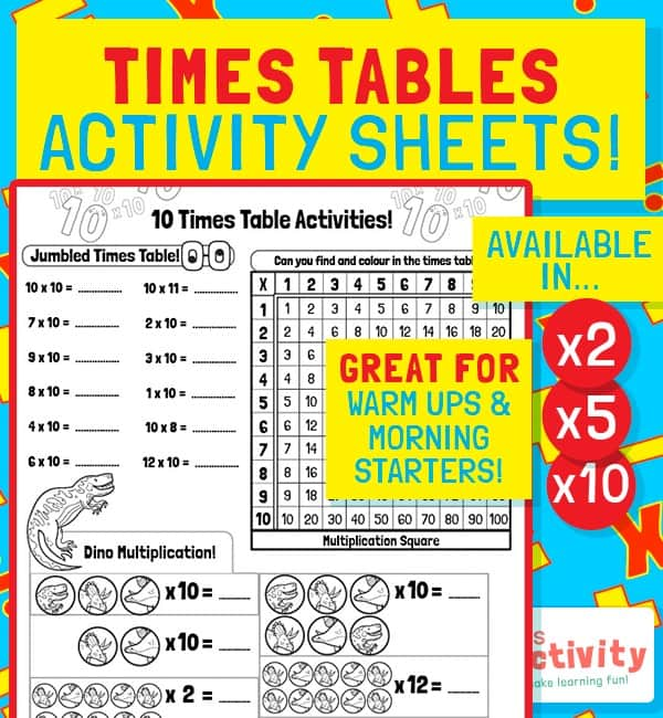 KS1 Times Tables Activity Pack