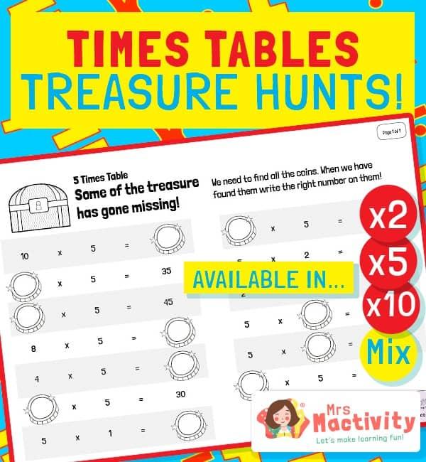 Times Tables Treasure Hunt