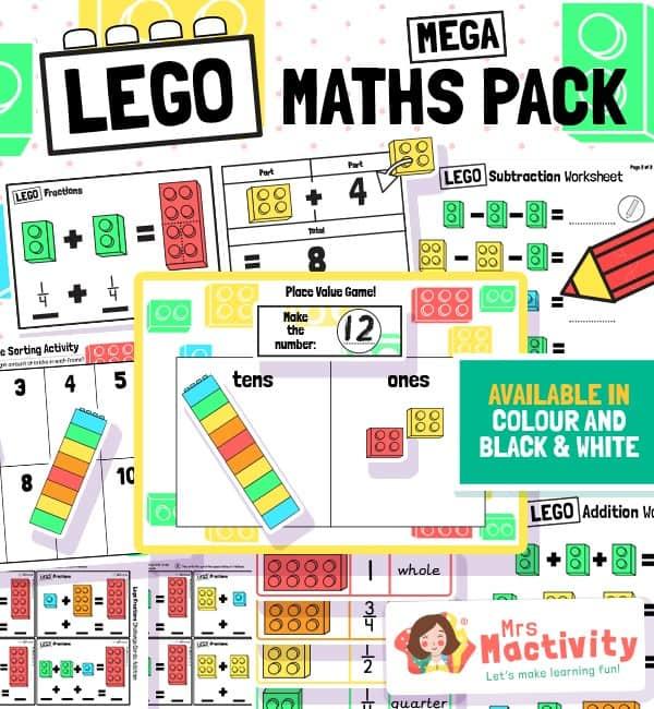 Lego Maths Bumper Resource Pack