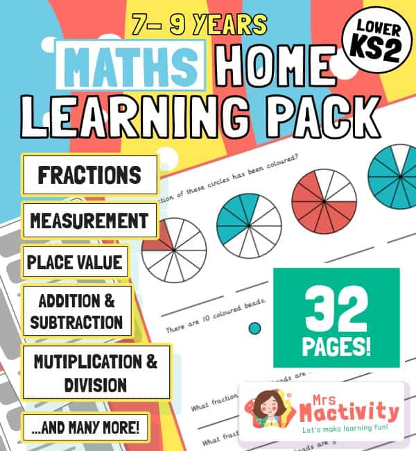 Maths home learning booklet age 7-9