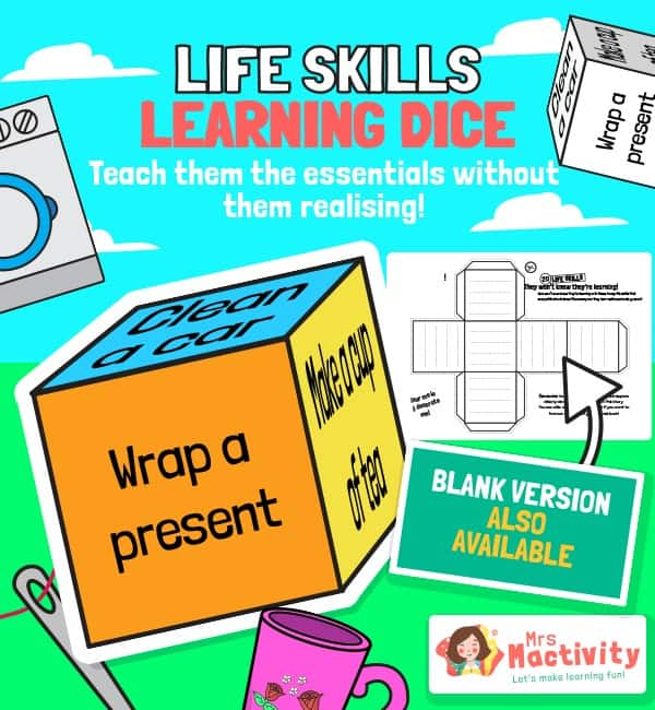 Life Skills School Closure Activity Dice