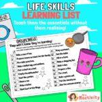 Life Skills School Closure Activity Sheet