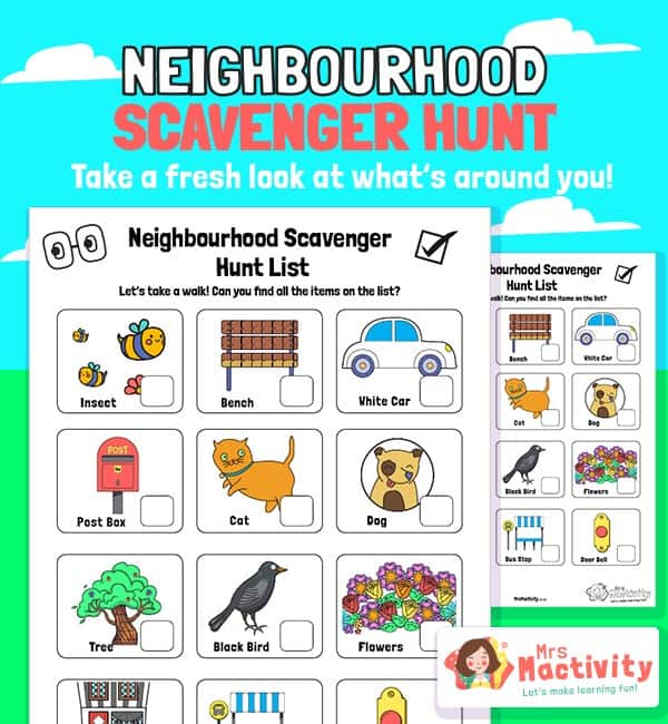 Neighbourhood Scavenger Hunt Activity