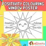 Sunshine Colouring Positivity Window Poster